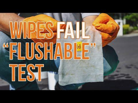 "Wipes Fail ""Flushable"" Test"